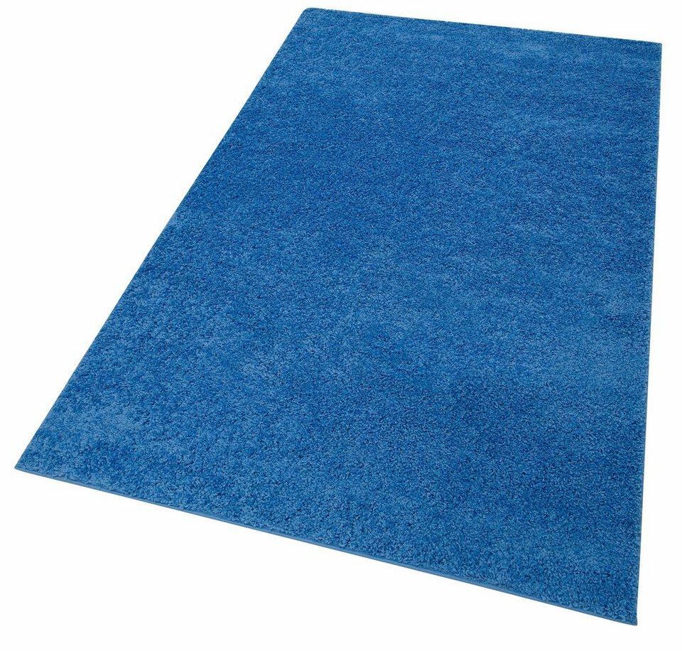 Hochflor-Teppich, my home, »Bodrum«, Höhe 30 mm, gewebt in hellblau