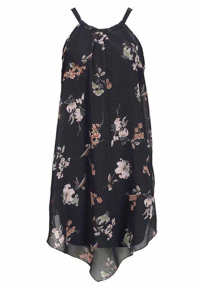 LASCANA Strandkleid in schwarz bedruckt