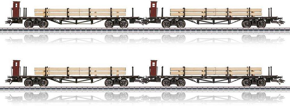 Märklin Güterwagenset, Spur H0, »Flachwagen der Bauart Köln der DRG, Wechselstrom - 46287«
