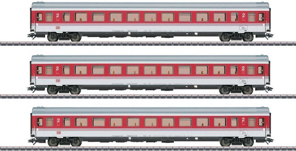 Märklin Personenwagen Set, Spur H0, Schnellzugwagen 2. Klasse, EC 9 Tiziano, Wechselstrom 43310