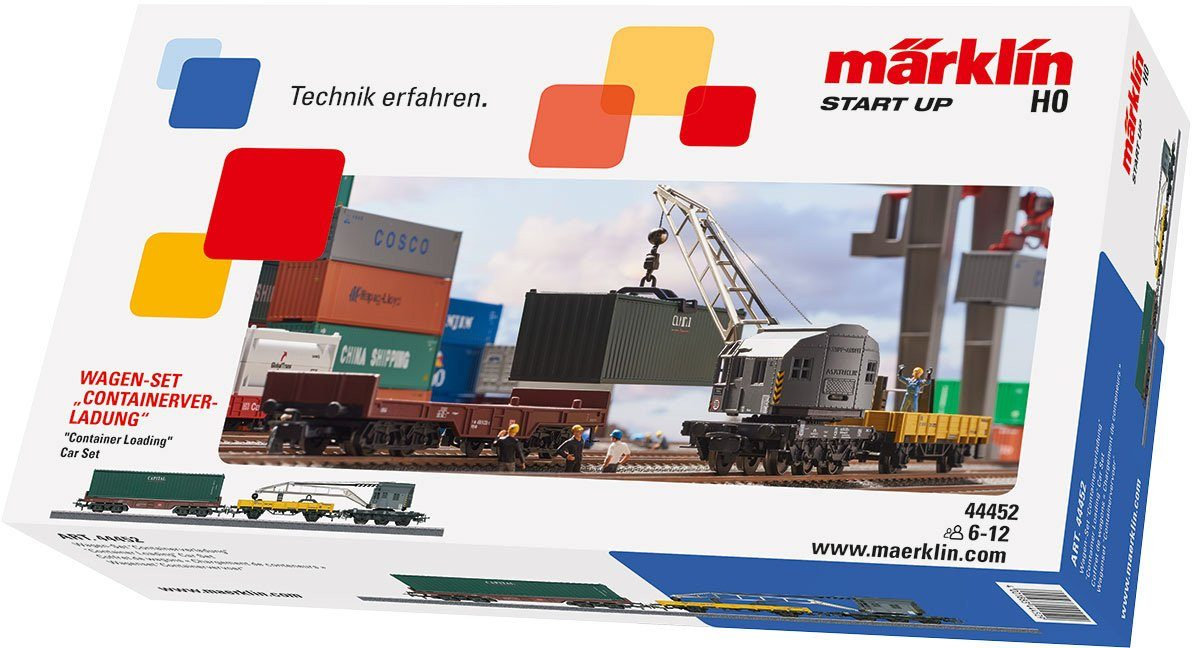 Märklin Güterwagenset, Spur H0, »Märklin Start up, Wagenset Containerverladung - 44452«