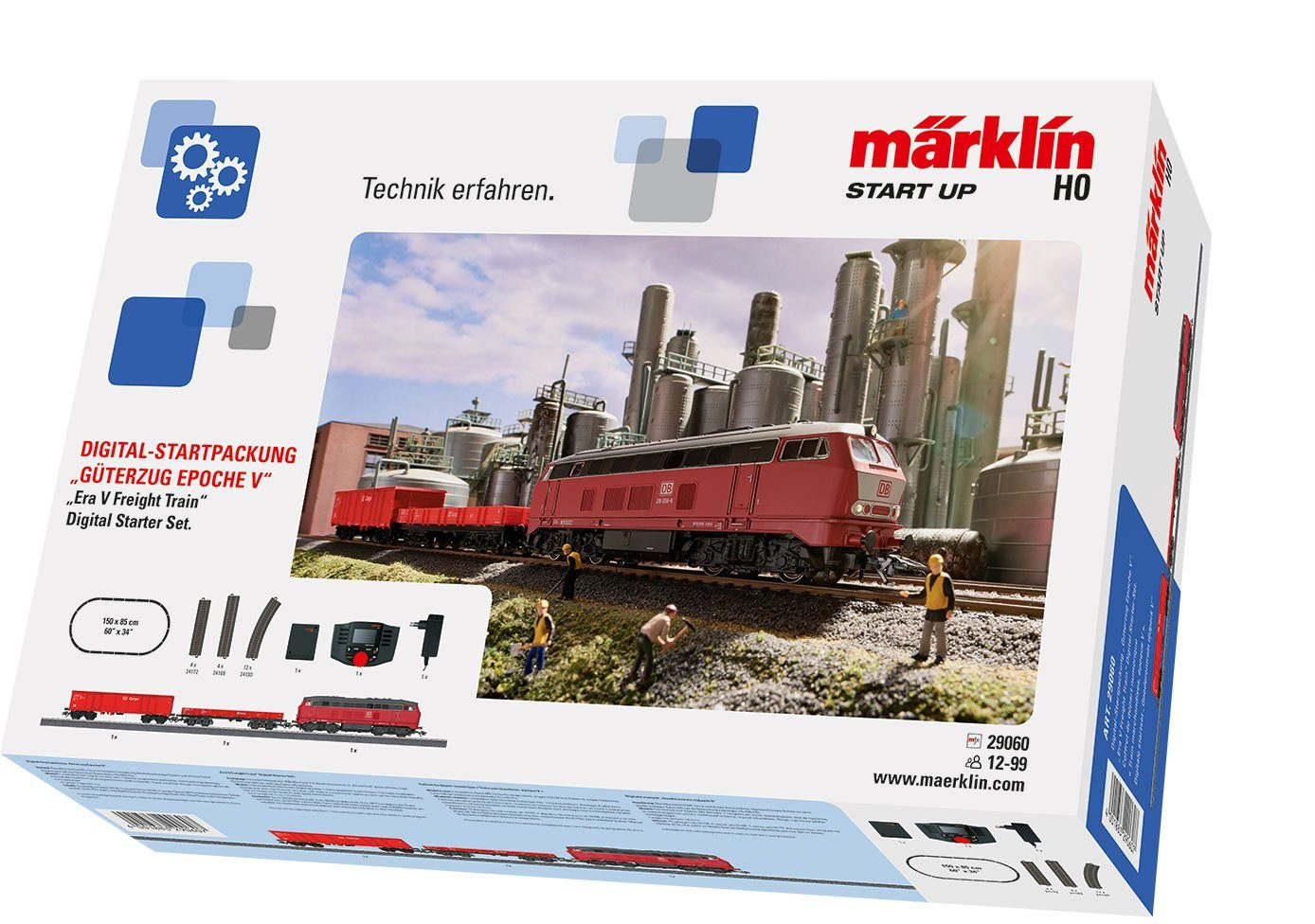 Märklin Digitalset, Spur H0, »Märklin Start up, Güterzug Epoche V, Wechselstrom - 29060«