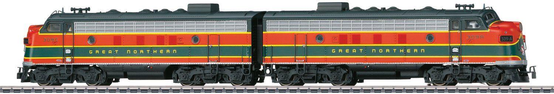 Märklin Diesellokomotive, Spur H0 - 39621, »Dieselelektrische Lok F7, Wechselstrom«