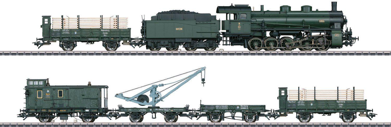 Märklin Dampflokomotive, Spur H0, »Zugpackung, Bayerischer Güterzug, Wechselstrom - 26603«