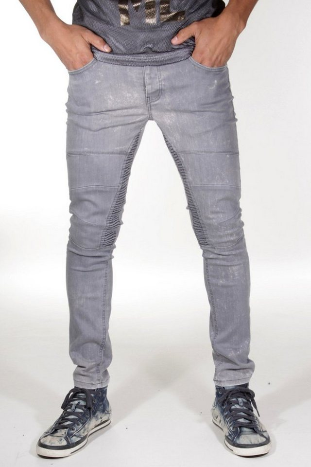 Bright Jeans Stretchjeans skinny fit in grau