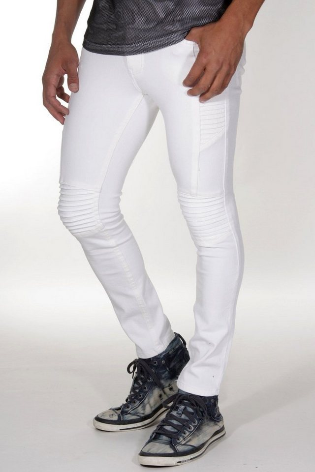 Bright Jeans Stretchjeans skinny fit in weiss
