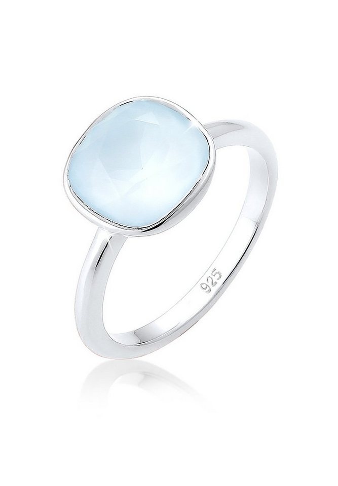 Elli Ring »Swarovski® Kristalle Pastellblau 925 Silber« in Hellblau