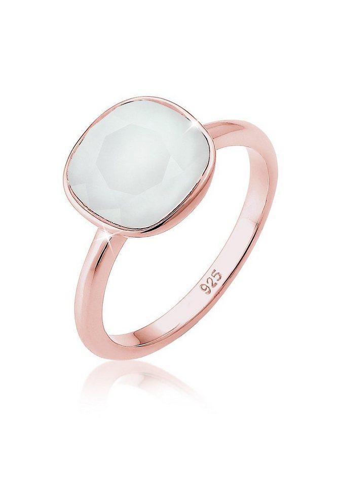 Elli Ring »Pastell Swarovski® Kristalle Silber rosé vergoldet« in Grau