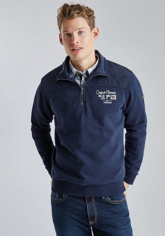 PIONEER Sweatjacke in blau