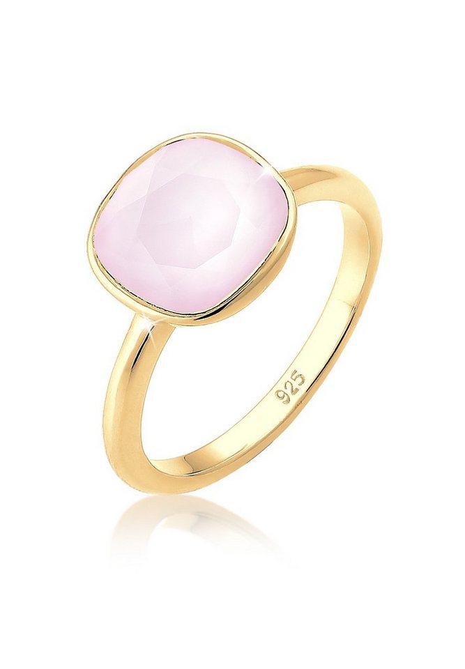 Elli Ring »Swarovski® Kristalle Pastellrosa vergoldet« in Rosa