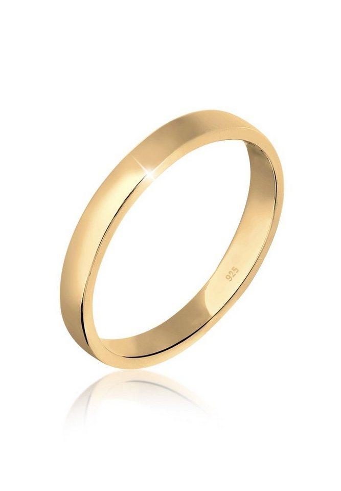 Elli Ring »Basic Ehering 925 Silber vergoldet« in Gold