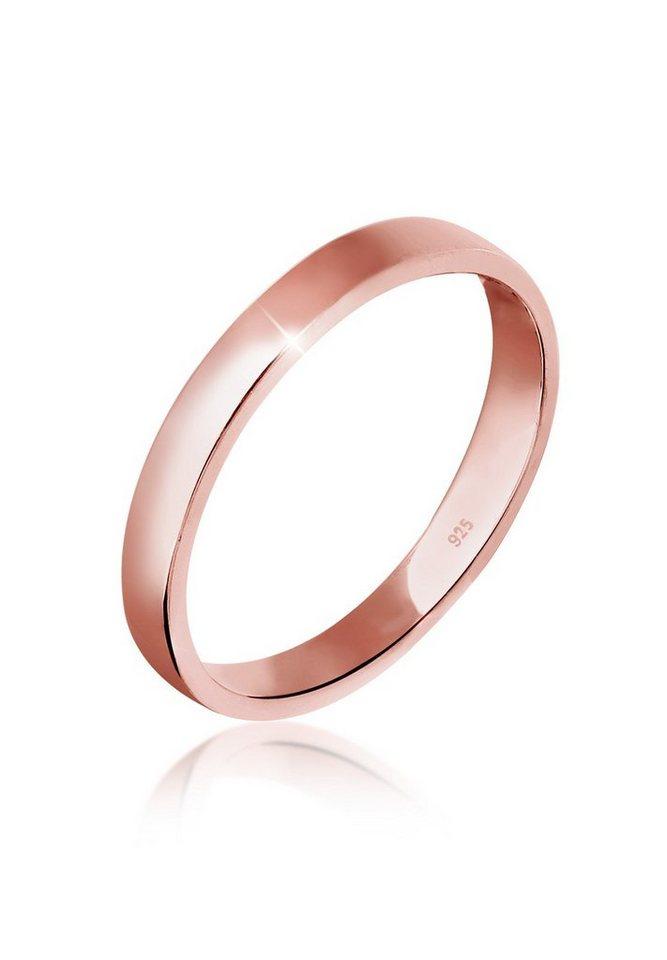 Elli Ring »Basic Bandring 925 Silber rosé vergoldet« in Rosegold