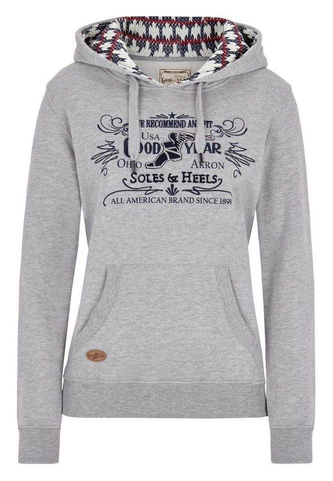Goodyear Sweatshirt »SONORA« in Marl Grey