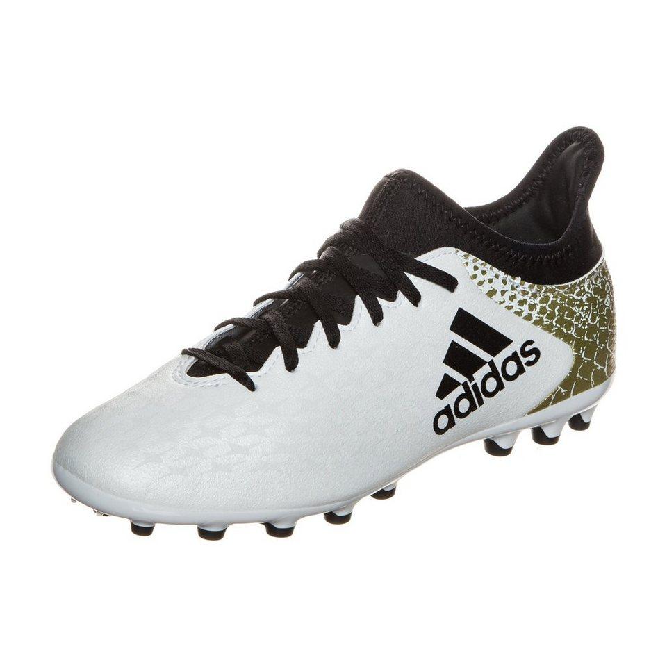 adidas Performance X 16.3 AG Fußballschuh Kinder in weiß / gold
