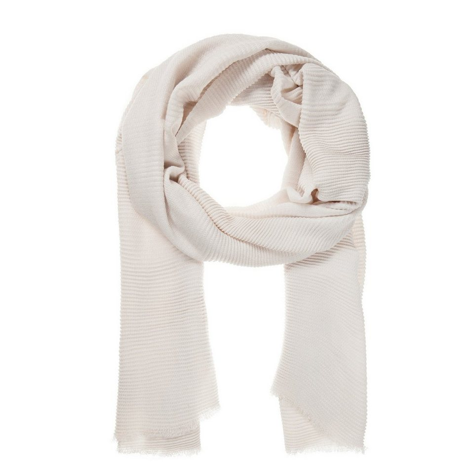 CODELLO Plissee-Schal in weiss