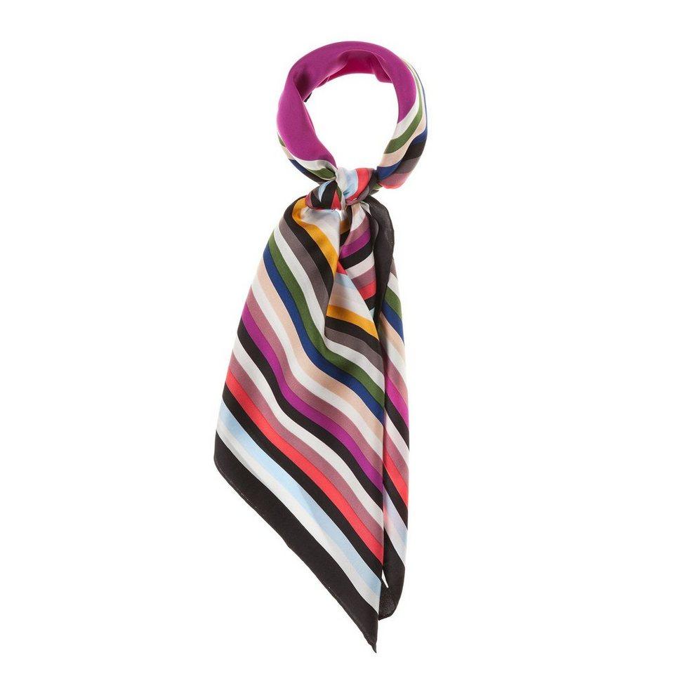 CODELLO Seiden-Carré mit Regenbogen-Muster in pink