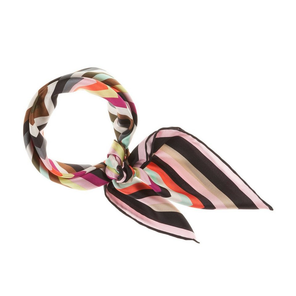 CODELLO Seiden-Twill mit Regenbogen-Muster in pink