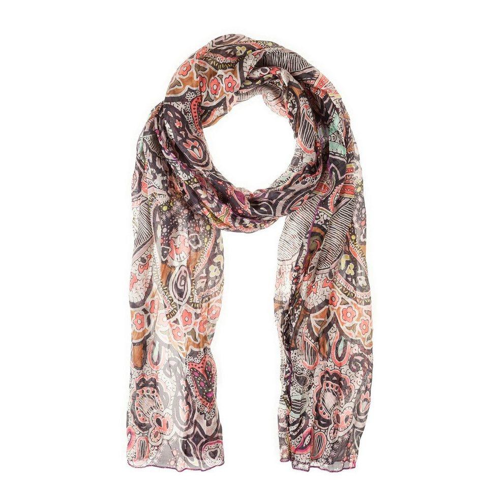 CODELLO Seiden-Schal mit Paisley-Muster in pink