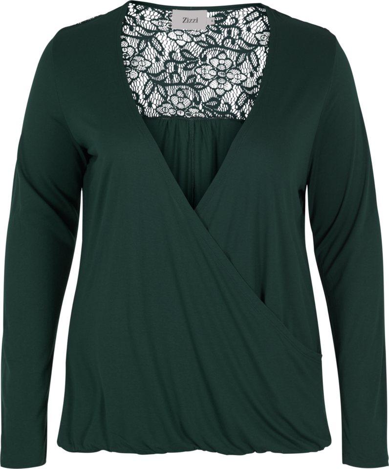 Zizzi Bluse in Green Gables