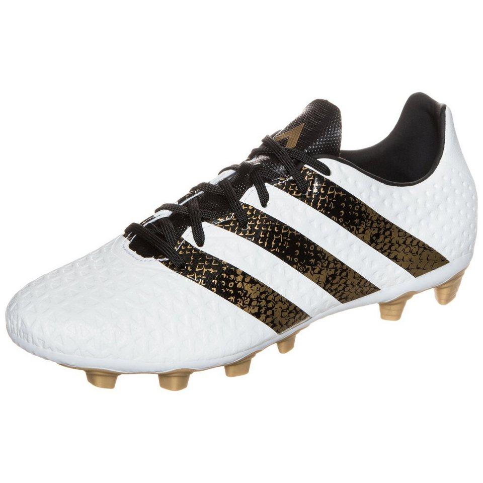 adidas Performance ACE 16.4 FxG Fußballschuh Herren in weiß / gold