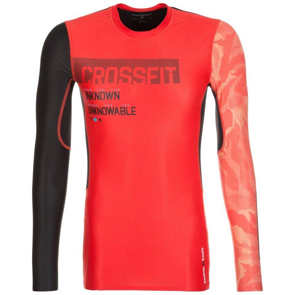 REEBOK CrossFit Compression Trainingsshirt Herren in rot / schwarz