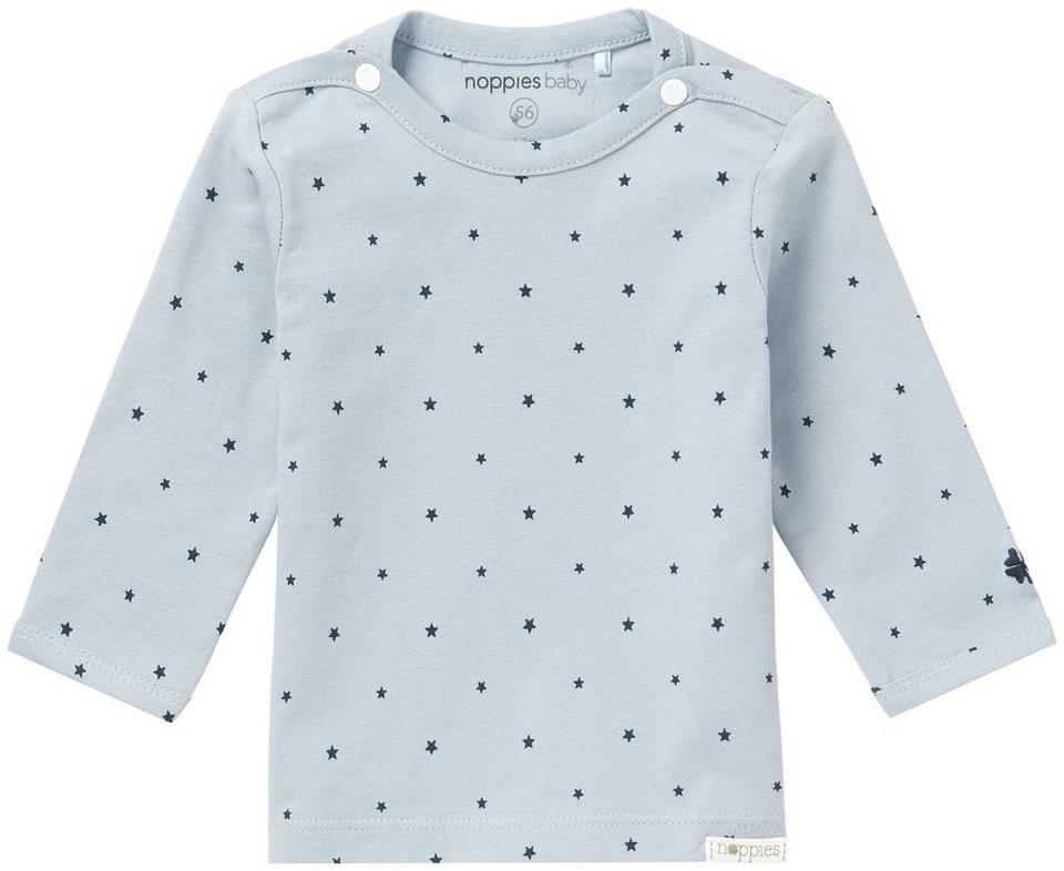 NOPPIES Langarmshirt »Novara« in Grey Blue
