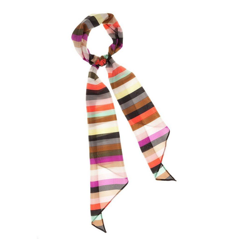 CODELLO Seiden-Schal mit Streifen in orange