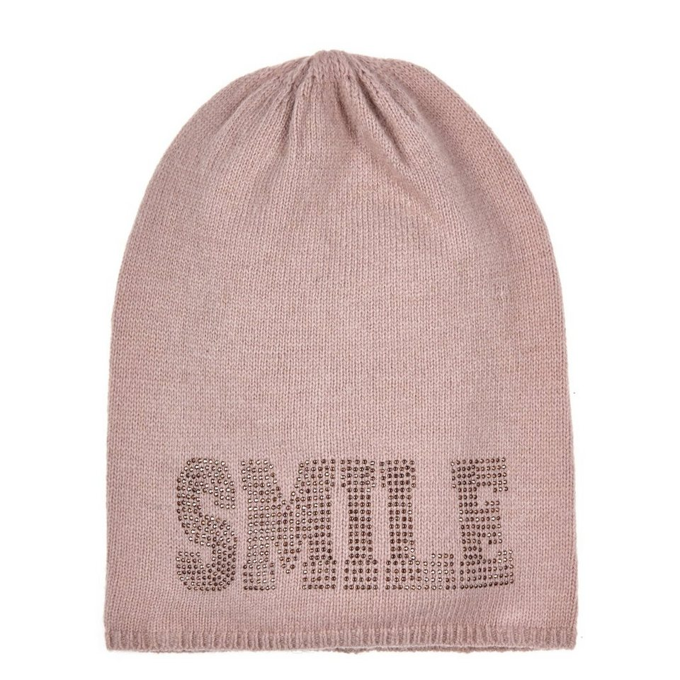 "CODELLO Beanie-Mütze ""Smile"" in hellpink"