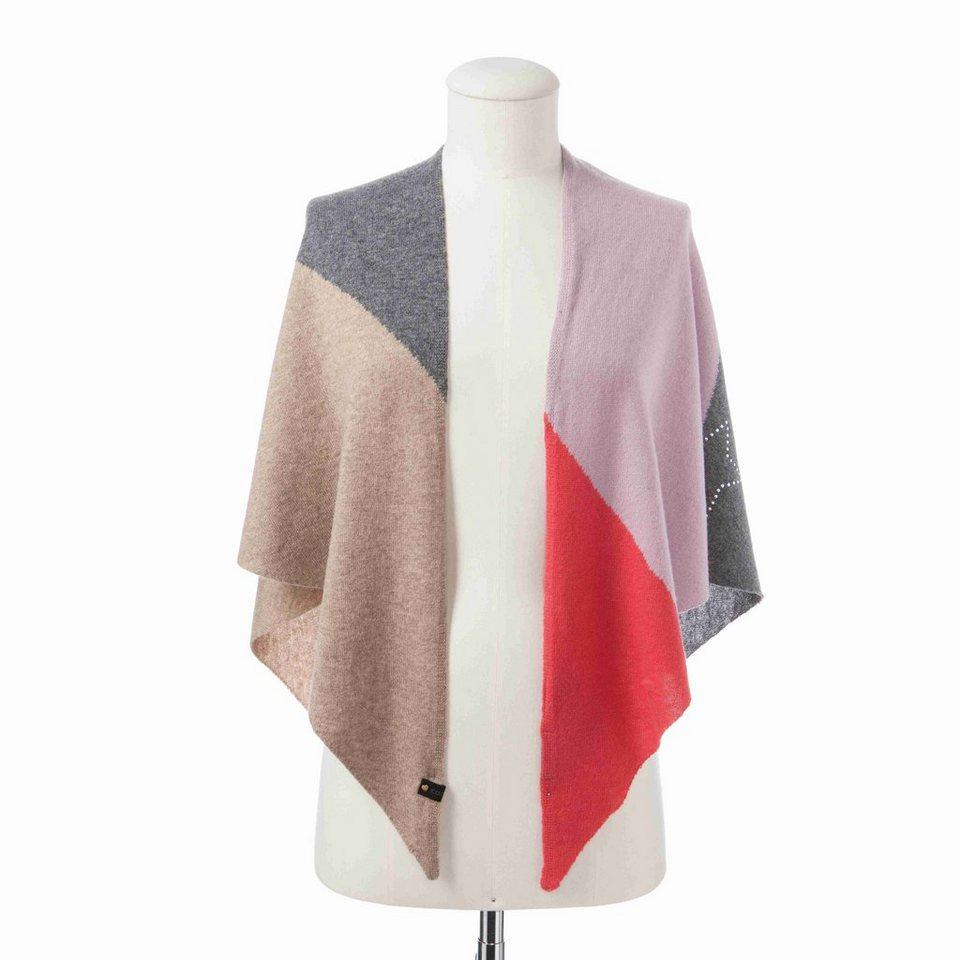 CODELLO Dreieckstuch/ Triangle mit Colour Blocks & softem Kaschmir in lila
