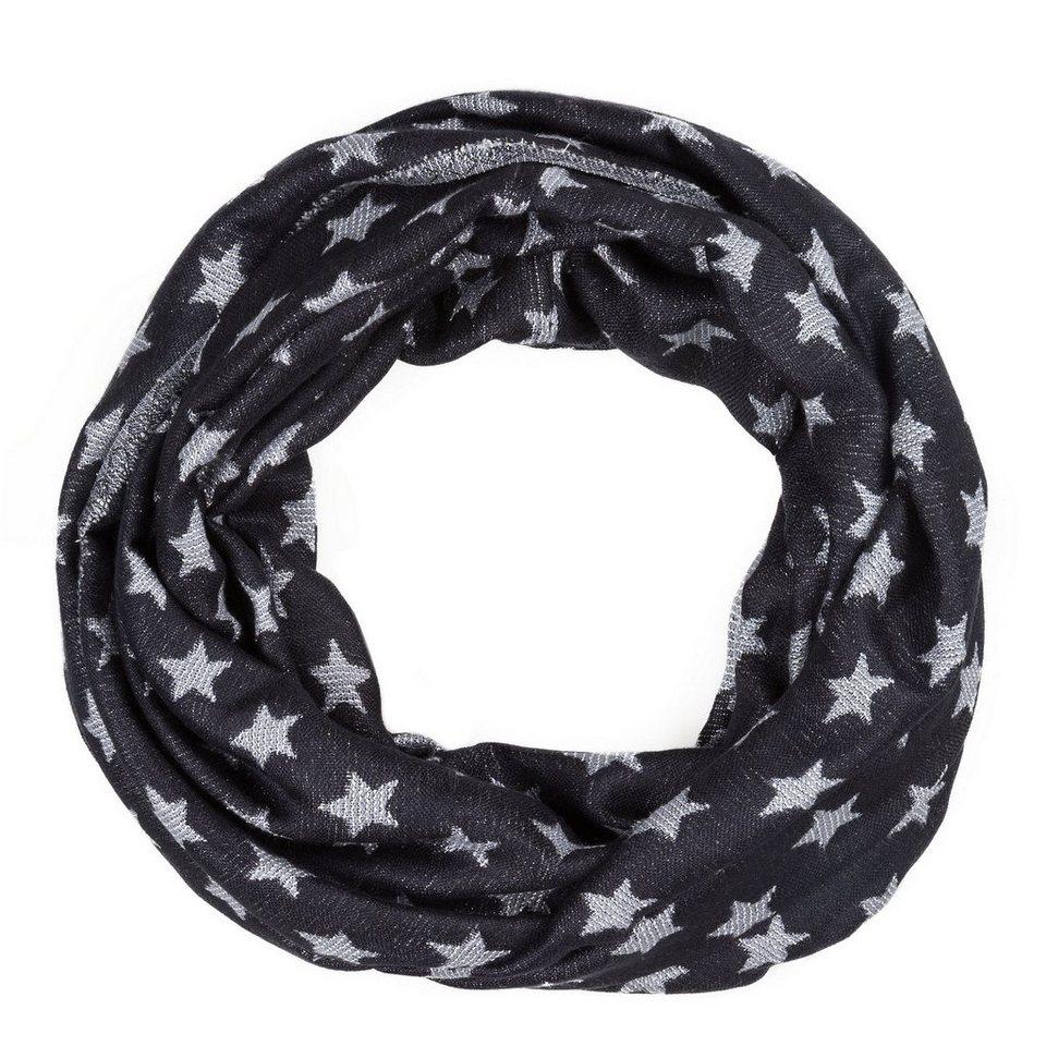 CODELLO Loop-Schal mit Stern-Muster in marine