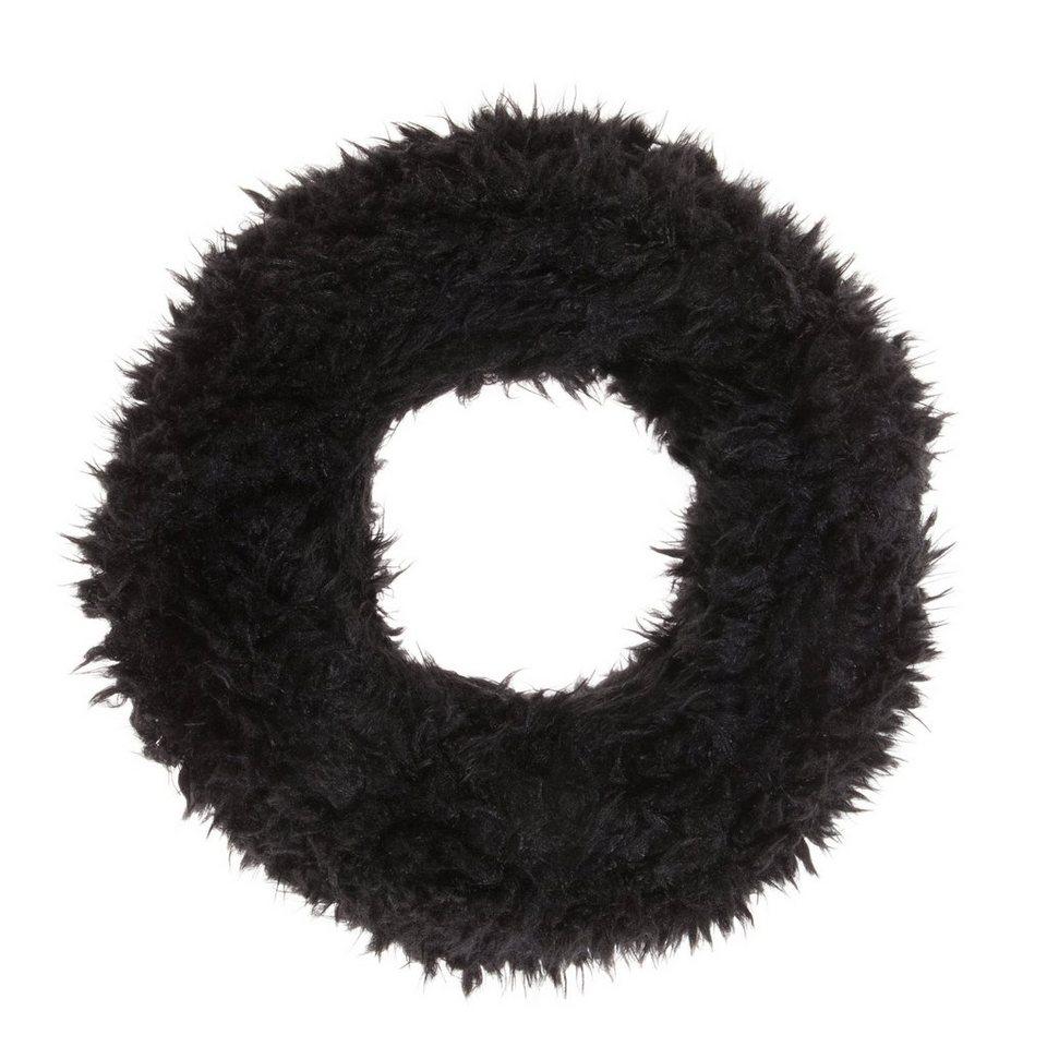 CODELLO Loop-Schal aus Kunstpelz in schwarz