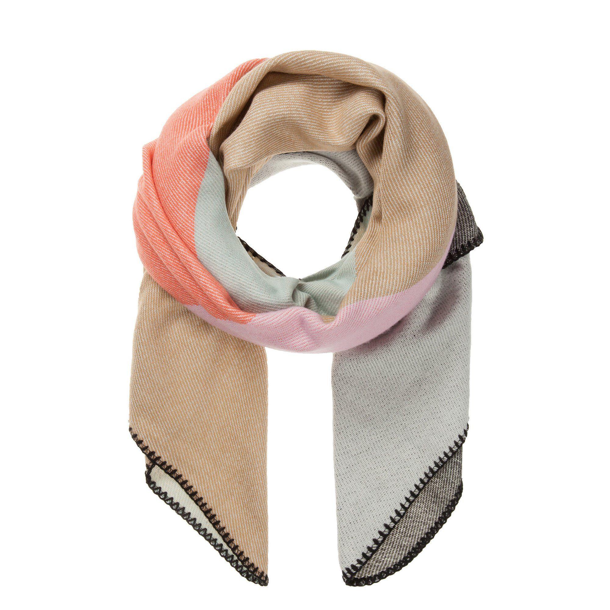 CODELLO Schal im Colour-Blocking-Look