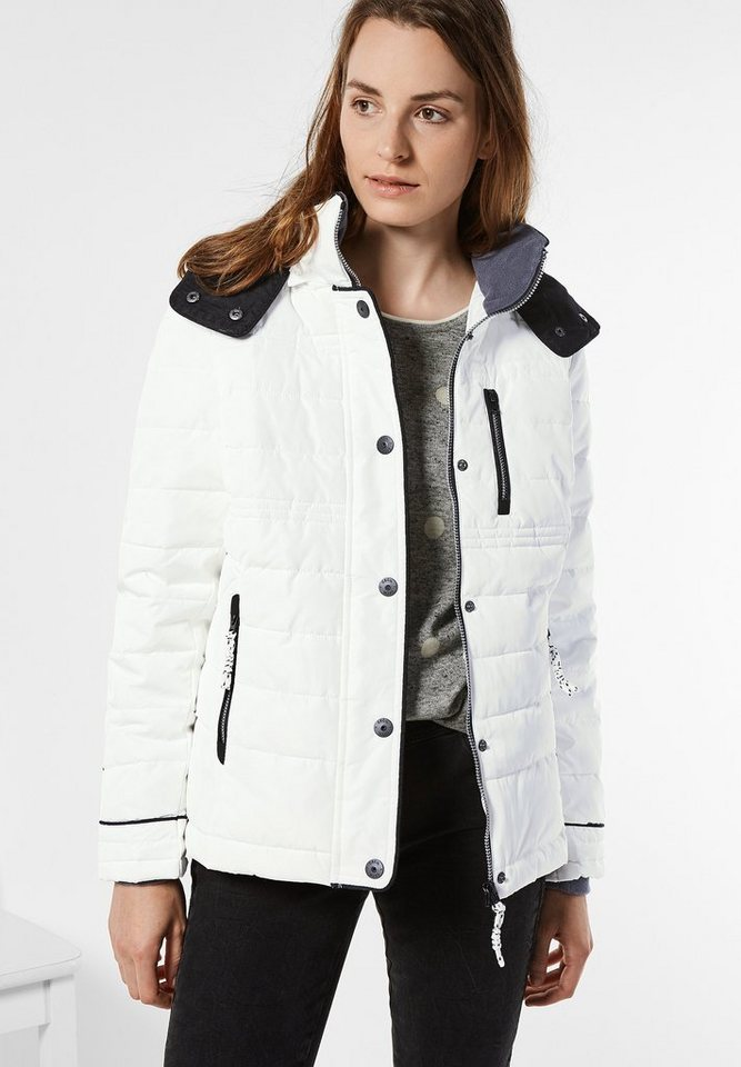 CECIL Steppjacke mit Thermometer in pure off white