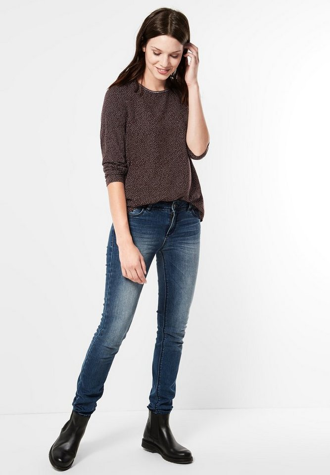 Street One Shirt mit Punkten Ingrid in chocolate brown