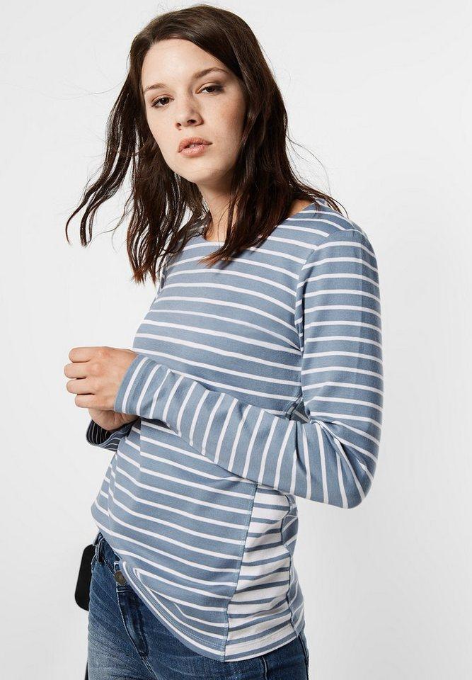 Street One Streifen Sweatshirt Hera in sterling blue