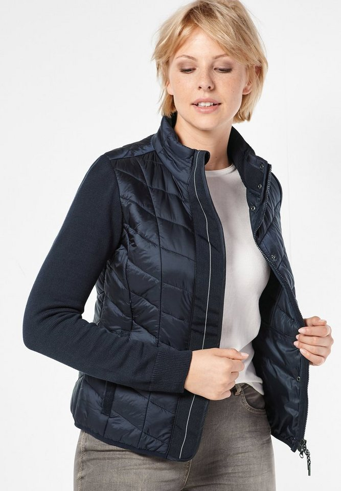 CECIL Steppjacke mit Strick in deep blue