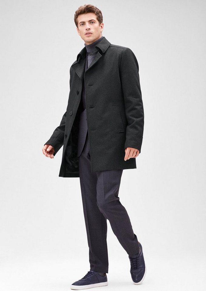 s.Oliver BLACK LABEL Slim: Modischer Kurzwollmantel in dark grey