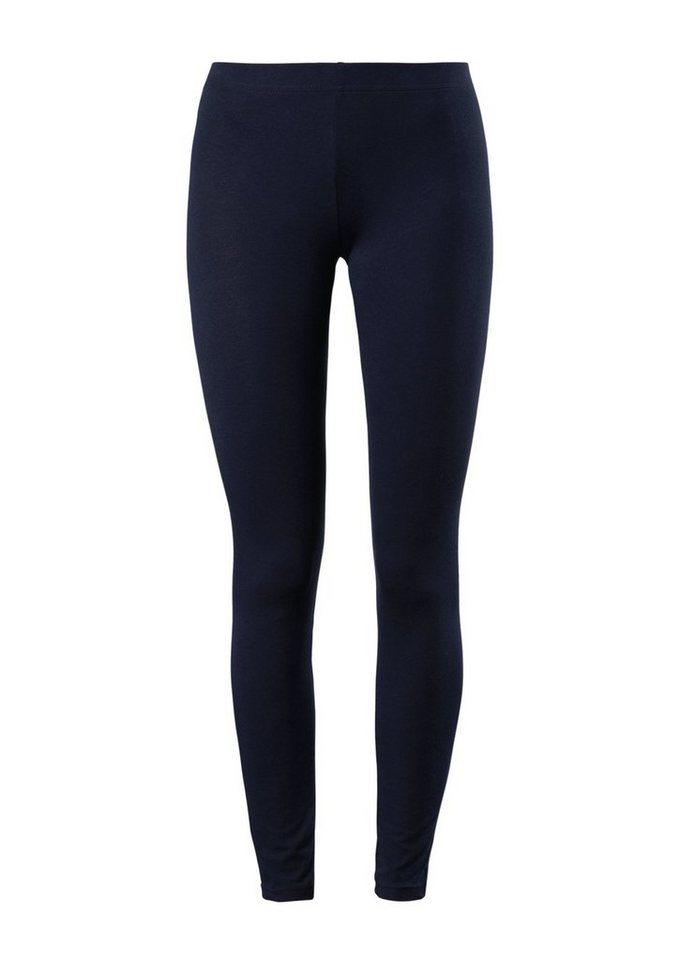 Q/S designed by Doppelpack Jersey-Leggings in blue & black