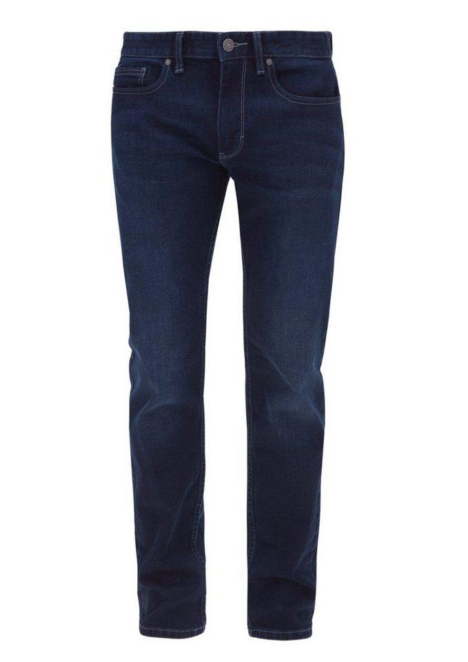 s.Oliver RED LABEL Close Slim: Dunkle Stretch-Jeans in deep sea denim stret