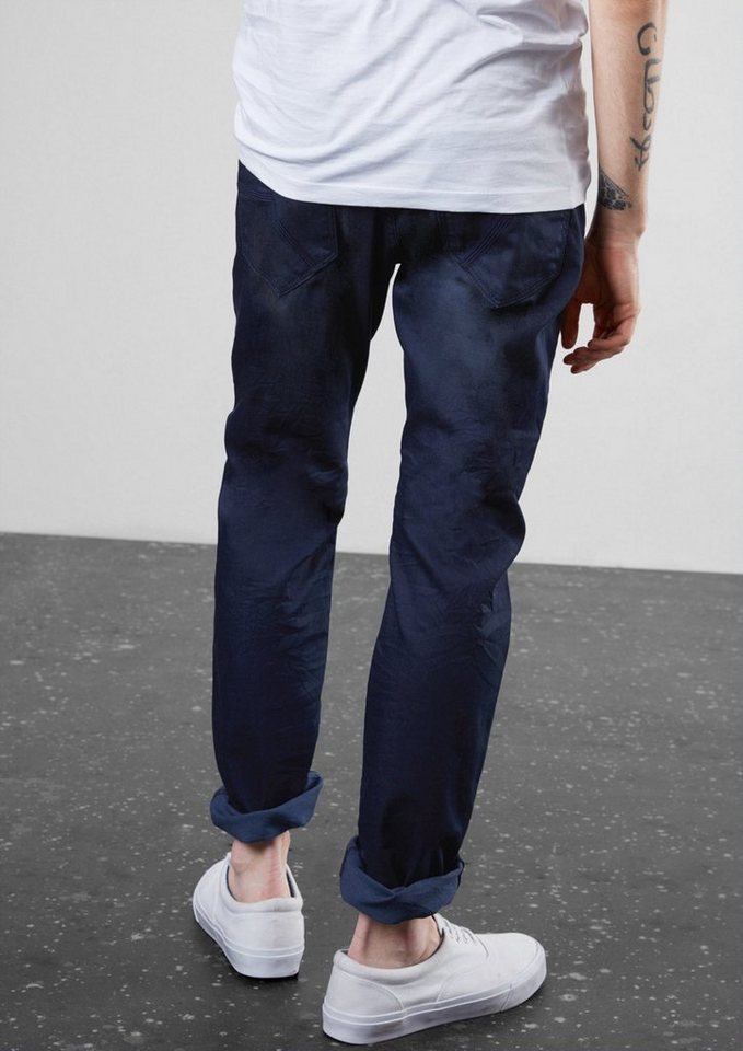 Q/S designed by Pete Straight: Dunkle Dirty-Denim in dark blue