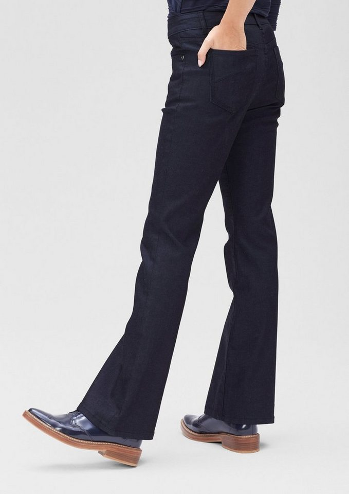 s.Oliver BLACK LABEL Slim: Dunkle Bootcut-Jeans in india ink