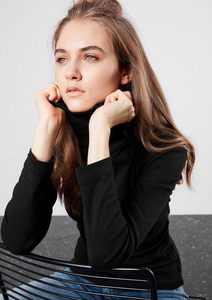Q/S designed by Doppelpack Rollkragenshirts in black