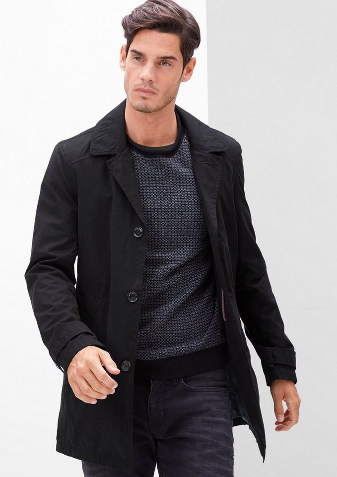 s.Oliver RED LABEL Kurzmantel im Trenchcoat-Style in black