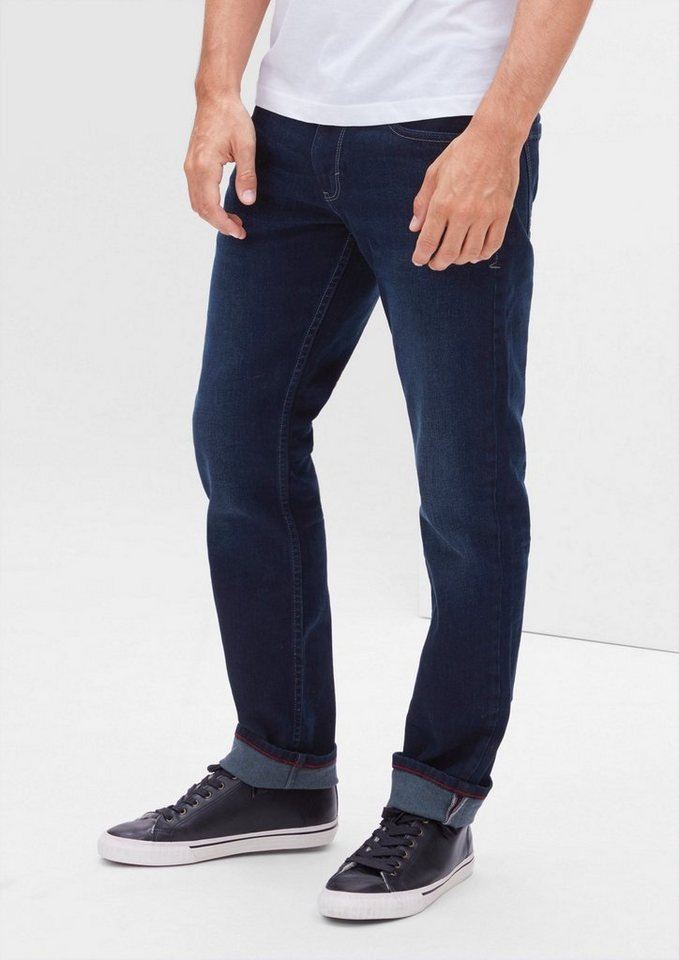 s.Oliver RED LABEL Close Slim: Dunkle Stretch-Jeans in deep sea denim stret