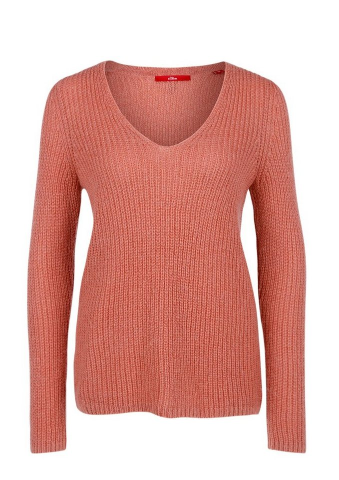 s.Oliver RED LABEL Strickpullover mit Mohair in rosewood