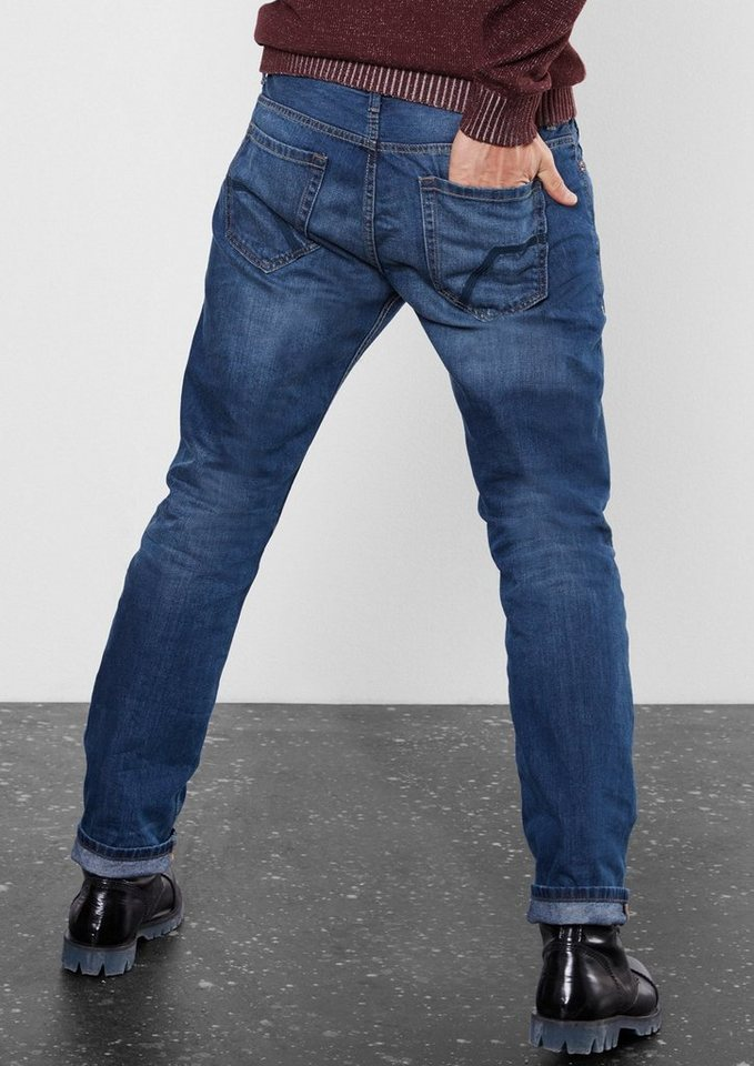 Q/S designed by Pete Straight: Used-Jeans in denim