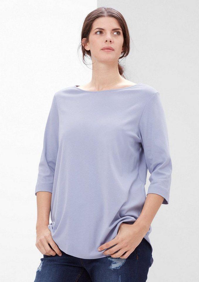 TRIANGLE Longshirt im Asymmetrie-Look in dusty lavender