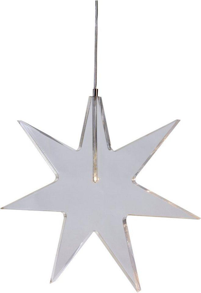 LED Leuchtstern in transparent