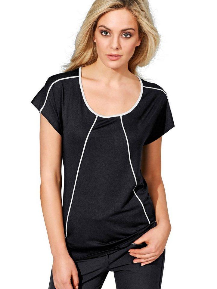Alba Moda Shirt in schwarz/weiß