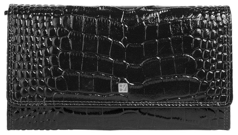 BODENSCHATZ Leder Damen Geldbörse in schwarz